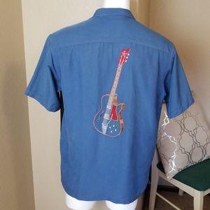 Tori Richards Guitar Mens Silk Short Sleeve Shirt